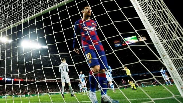 Messi garantiu a vitória do Barcelona, de pênalti