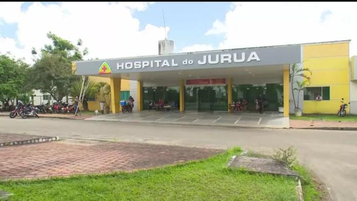 Hospital do Juruá também está com falta de médicos, segundo o Sindmed — Foto: Reprodução/Rede Amazônica Acre