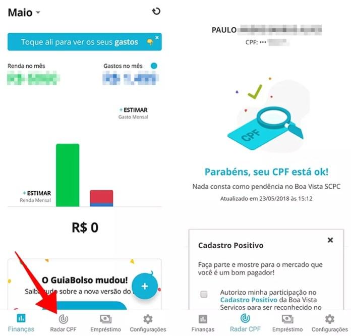 Monitore com frequência eventuais pendências no seu CPF (Foto: Reprodução/Paulo Alves)