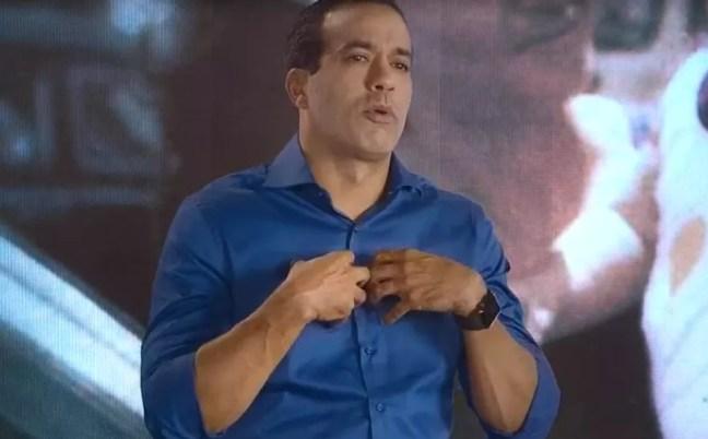 Bruno Reis (DEM) no primeiro dia de propaganda eleitoral — Foto: Reprodução