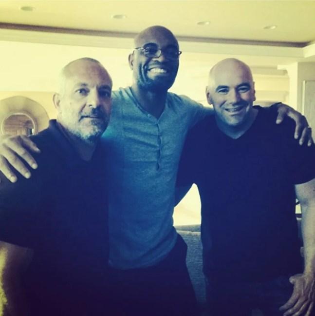 Lorenzo Fertitta, Anderson Silva e Dana White. — Foto: Reprodução / Instagram