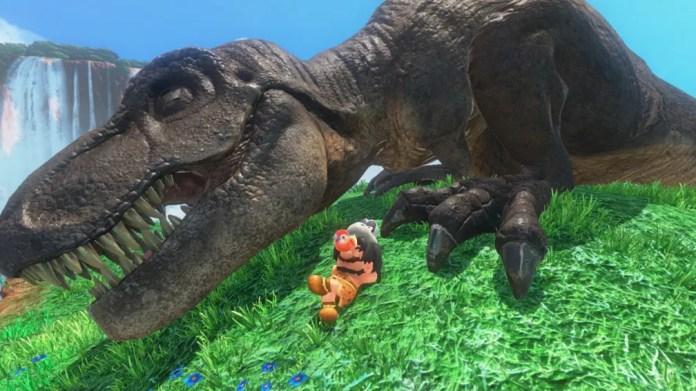 Em 'Super Mario Odyssey', Mario pode assumir a forma de um tiranossauro (Foto: Divulgação)