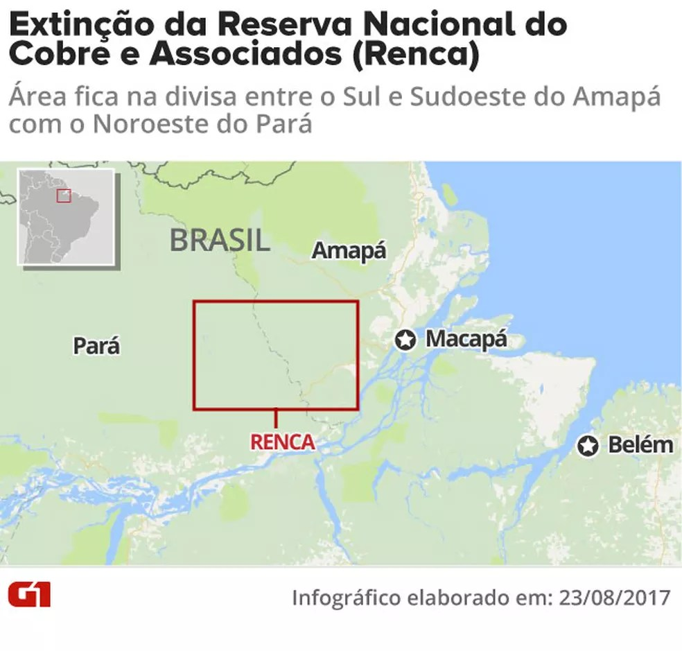 Reserva tem alto potencial para ouro e outros metais (Foto: Arte/G1)