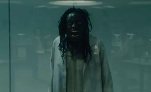 Usuário usou imagem do filme Guerra Mundial Z para criar falsa imagem de zombie do Ebola (Foto: Reprodução/YouTube/olle9266)