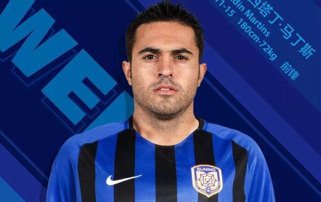 Jogador da seleção italiana, Eder foi para o Jiangsu Suning, de Ramires e Alex Teixeira (Foto: Reprodução / Twitter)