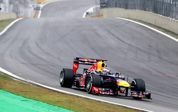 Vettel no GP Brasil prova (Foto: Getty Images)