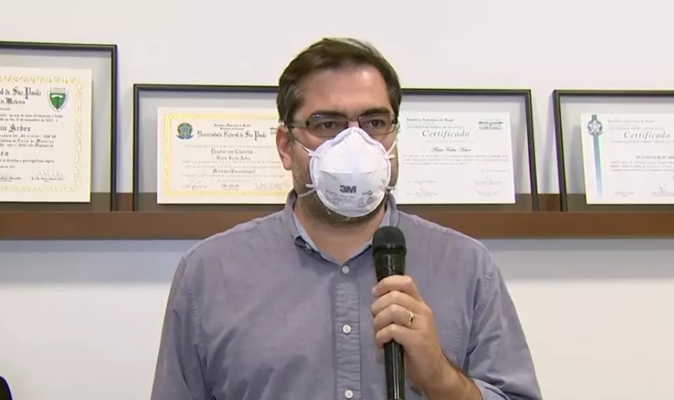 Médico especialista em pneumologia Flavio Ferlin Arbex — Foto: Reprodução/EPTV
