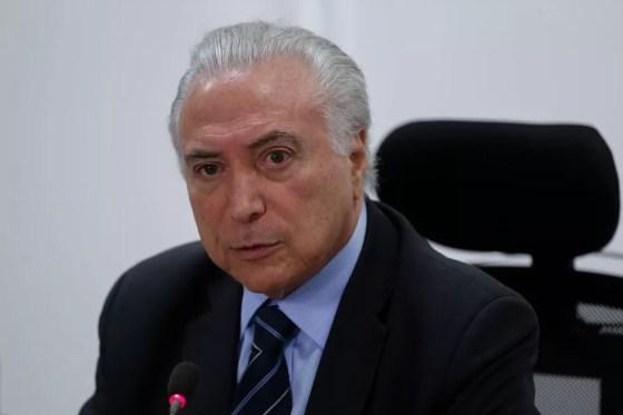 Temer durante fala na reunião do Conselho Nacional de Política Fazendária, nesta sexta-feira (25) (Foto: Cesar Itiberê/PR)