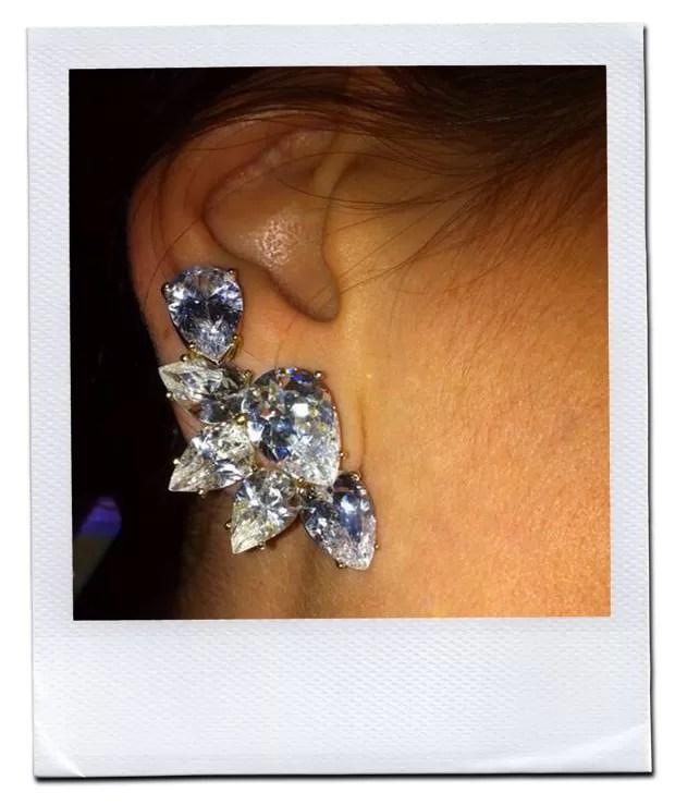 Mais de perto: os brincos com 32 quilates de diamantes e ouro feitos para Claudia Leitte (Foto: Divulgação)