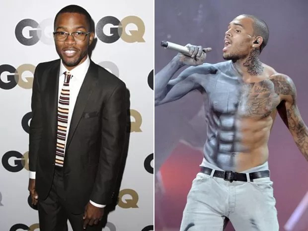Os cantores Frank Ocean e Chris Brown (Foto: AP e Phil McCarten/Reuters)