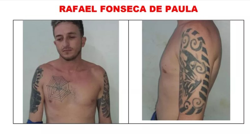 Rafael Fonseca é procurado após fugir de presídio em Ariquemes — Foto: Reprodução
