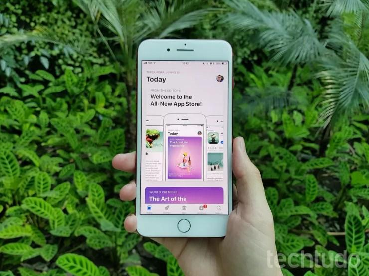 App Store também teve visual renovado no iOS 11 (Foto: Thássius Veloso/TechTudo)