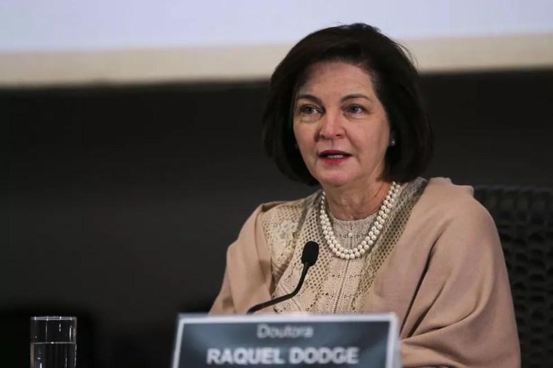 A procuradora-geral da República, Raquel Dodge, em evento na semana passada sobre o aniversário de 13 anos da Lei Maria da Penha — Foto: José Cruz/Agência Brasil