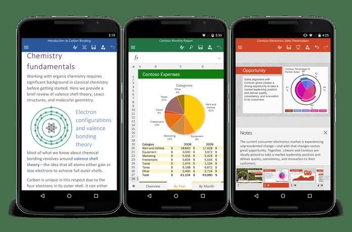Microsoft Office está disponível para smartphones Android (Foto: Divulgação/Office)