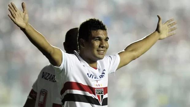 Casemiro gol São Paulo (Foto: Wander Roberto / Vipcomm)