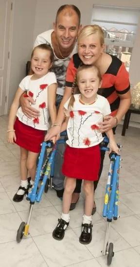 Menina de seis anos com paralisia cerebral (Foto: Reprodução/The Nothern Echo)