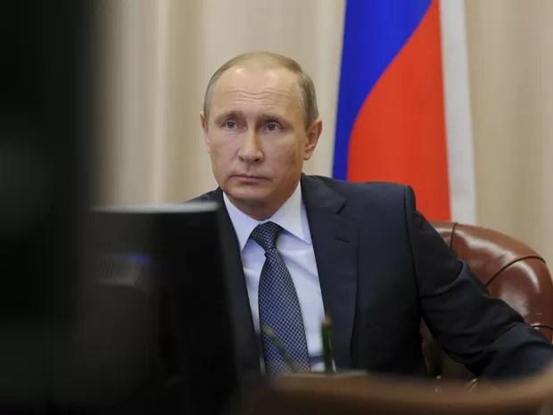 Putin participa de videoconferência com militares envolvidos em operação na Síria (Foto: /Mikhail Klimentyev/Sputnik/Kremlin)