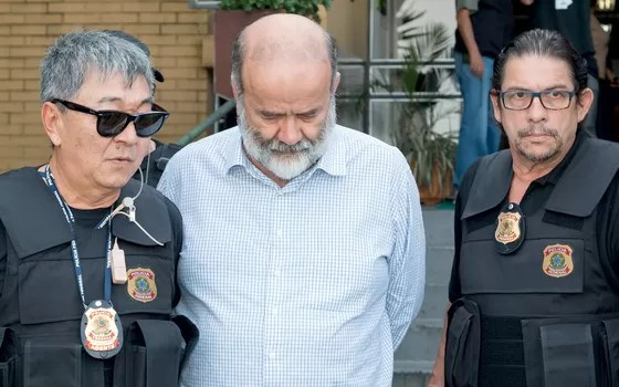 João Vaccari Neto,no dia da prisão (Foto: Cassiano Rosário/Futura Press)