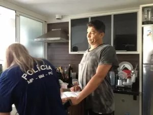 Investigadores foram até a casa de Jardel fazer buscas (Foto: Divulgação/Ministério Público)