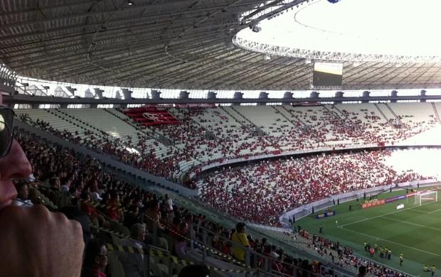 Torcida no Castelão em Portuguesa x Flamengo pela Série A (Foto: João Marcelo Sena)