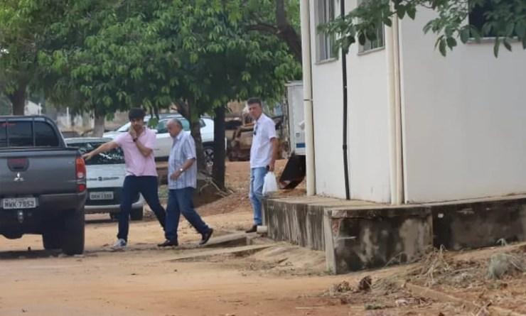 Brito Miranda na saída do Instituto Médico Legal — Foto: Djavan Barbosa/Jornal do Tocantins