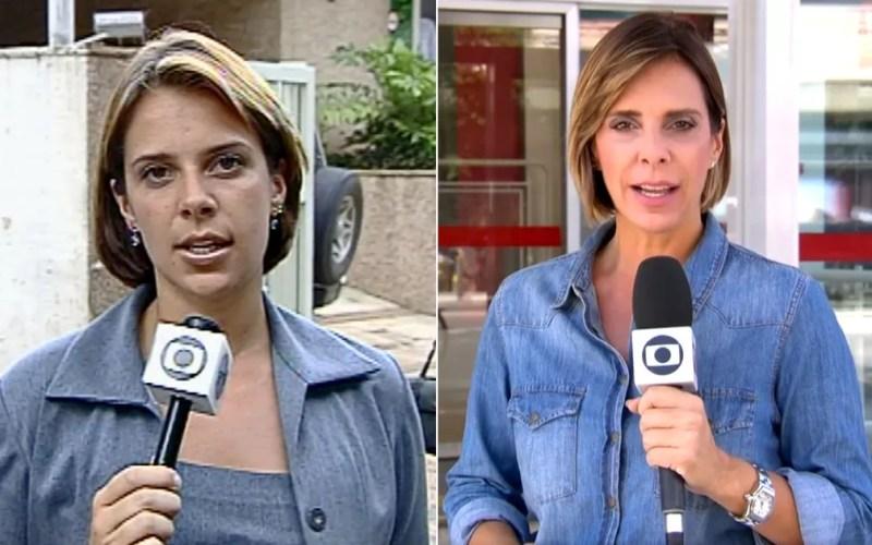 Flávia Jannuzzi passou pela reportagem na EPTV Campinas em 2000 e está na TV Globo Rio. — Foto: Arte/G1
