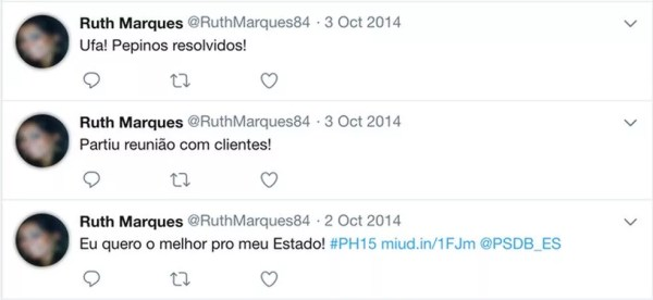 Perfil usa foto de mulher que apareceu no noticiário; ela escreve sobre seu cotidiano e comenta sobre Paulo Hartung (Foto: Reprodução, Facebook)