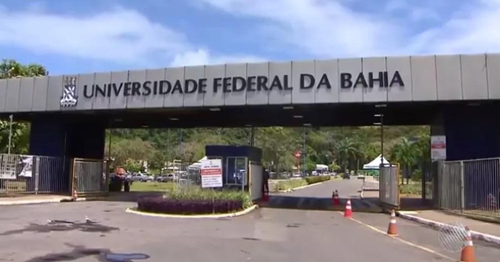 Campus da UFBA em Ondina, na capital baiana (Foto: Reprodução/ TV Bahia)