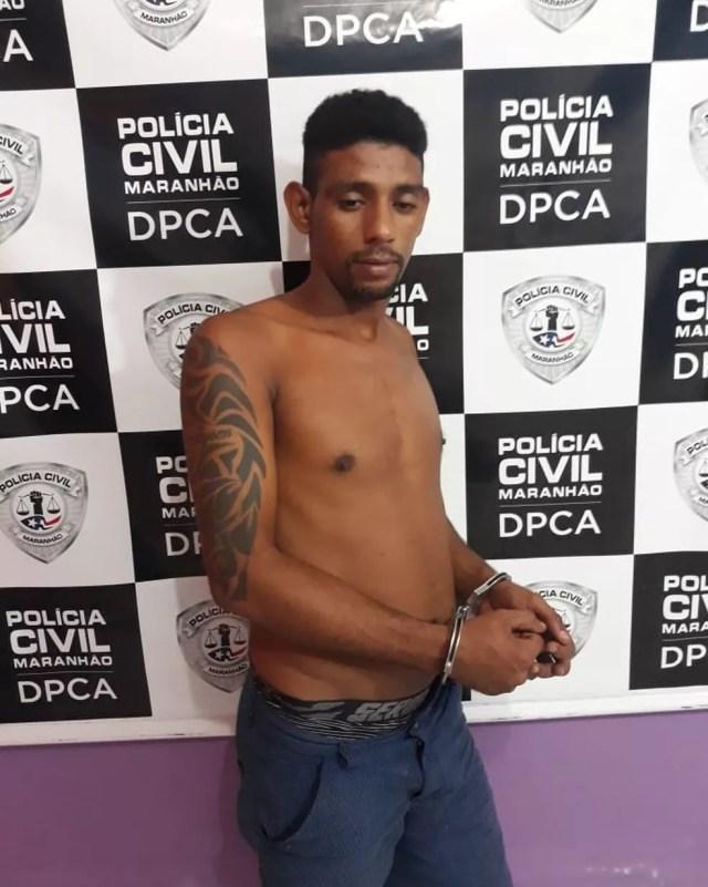 Carllyano Silva Castelo foi encaminhado para o Complexo Penitenciário de Pedrinhas em São Luís — Foto: Divulgação/Polícia