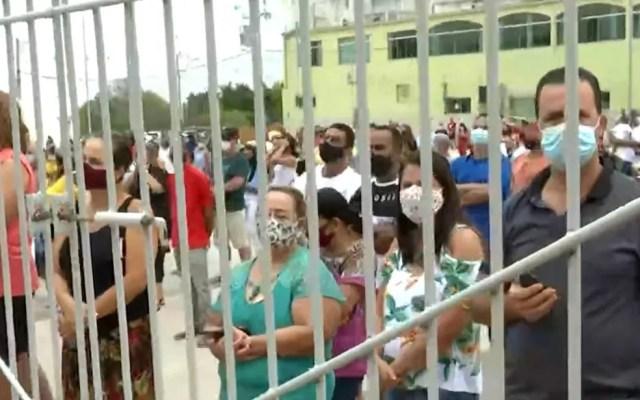 Fiéis de Nossa Senhora Aparecida em Bom Jesus da Lapa, no oeste da Bahia — Foto: Reprodução/TV Bahia