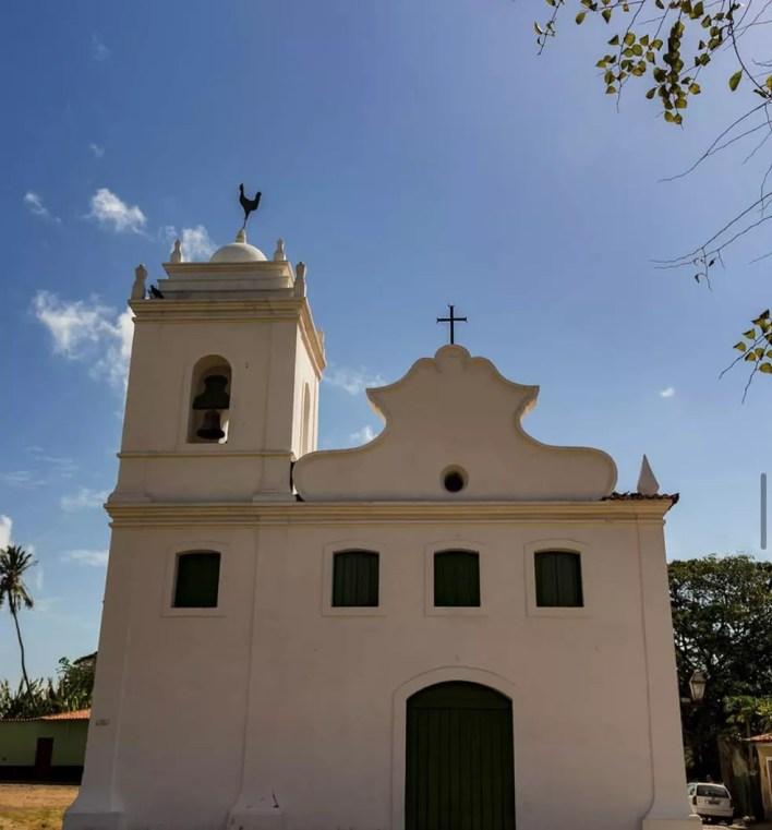 Igreja de Nossa Senhora do Rosário dos Pretos em Alcântara (MA) — Foto: Divulgação/Felipe Spider