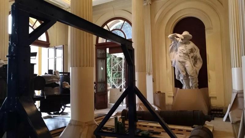 Obras do Museu do Ipiranga começam a ser transferidas para reforma do prédio (Foto: Marina Pinhoni/G1)