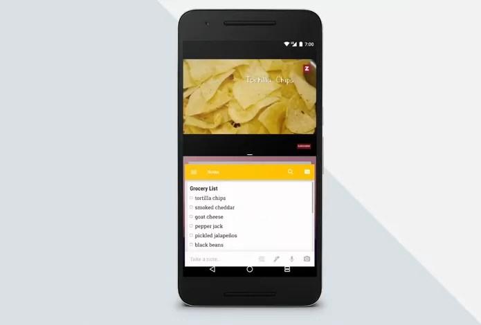 Android N permitirá usar dois apps ao mesmo tempo na tela (Foto: Reprodução/Google)
