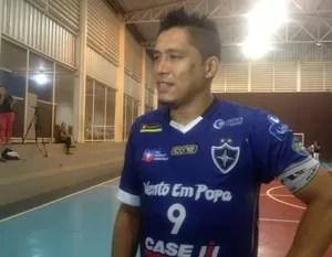 Índio - futsal LEM X PALMAS (Foto: Vilma Nascimento/GloboEsporte.com)