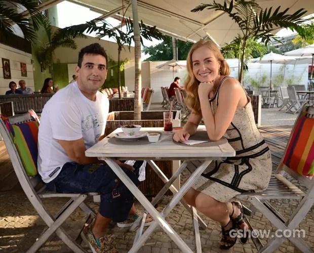 André fala sobre sua saúde e emagrecimento (Foto: TV Globo/Raphael Dias)