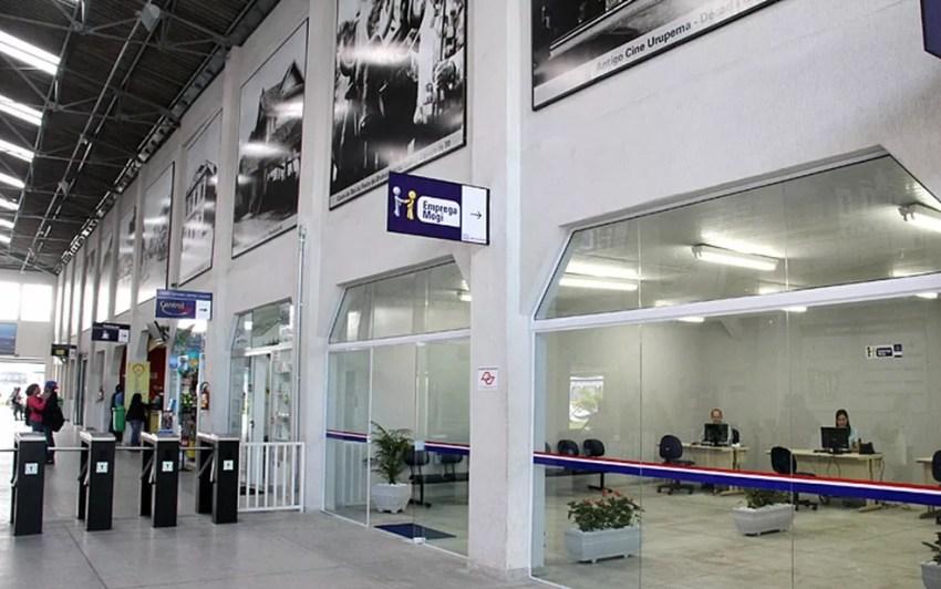Unidade de atendimento do Programa Emprega Mogi no Terminal Central (Foto: Ney Sarmento / Prefeitura de Mogi)