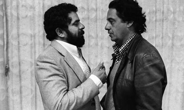 Lula e Fernando Henrique, São Paulo, 1980 (Foto: Juca Martins)