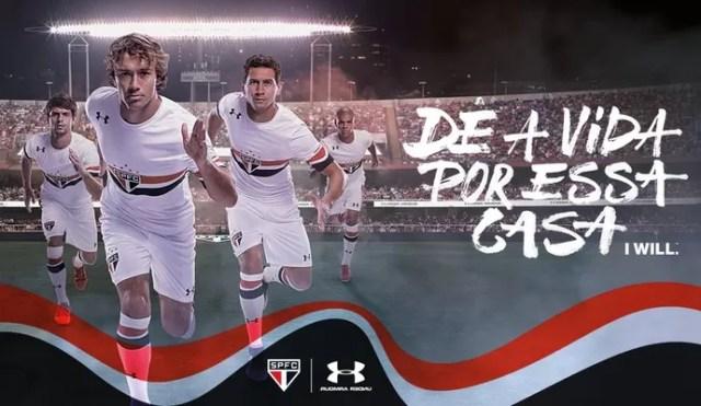 Under Armour divulga novo uniforme do São Paulo em rede social (Foto: reprodução / Twitter)