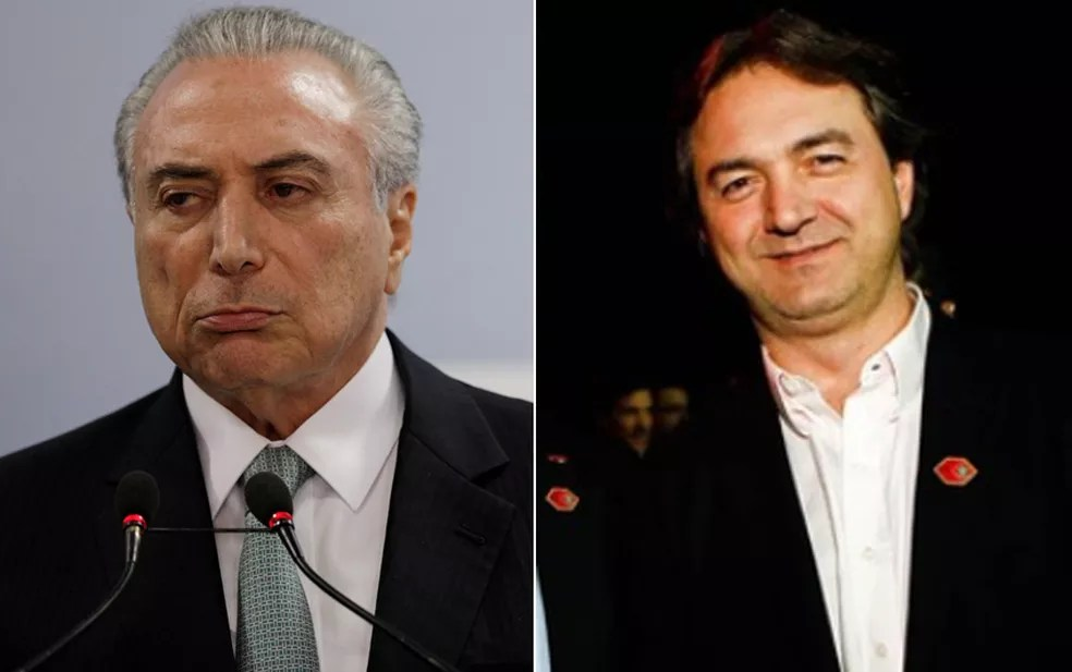 Montagem mostra o presidente Michel Temer (esq.) e o empresário Joesley Batista (dir.), dono da JBS (Foto: Ueslei Marcelino/Reuters; Zanone Fraissat/Folhapress/Arquivo)
