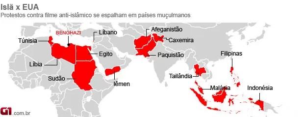 Disponível em: http://g1.globo.com/revolta-arabe/noticia/2012/09/franca-vai-fechar-embaixadas-em-20-paises-apos-charge-sobre-maome.html, acesso em 03 out. 2012.