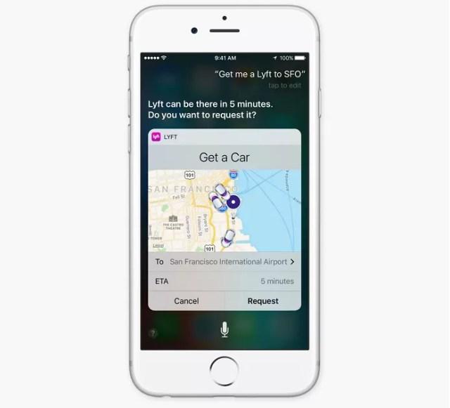 Siri agora pode ser usada com aplicativos de terceiros (Foto: Reprodução/Apple)