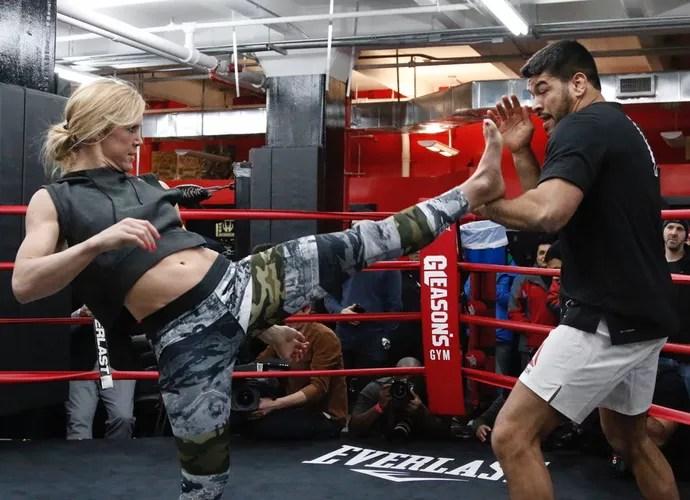 Holly Holm Treino Aberto UFC 208 (Foto: Evelyn Rodrigues)