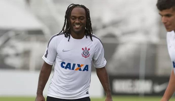 Vagner Love primeiro treino Corinthians (Foto: Daniel Augusto Jr/Agência Corinthians)