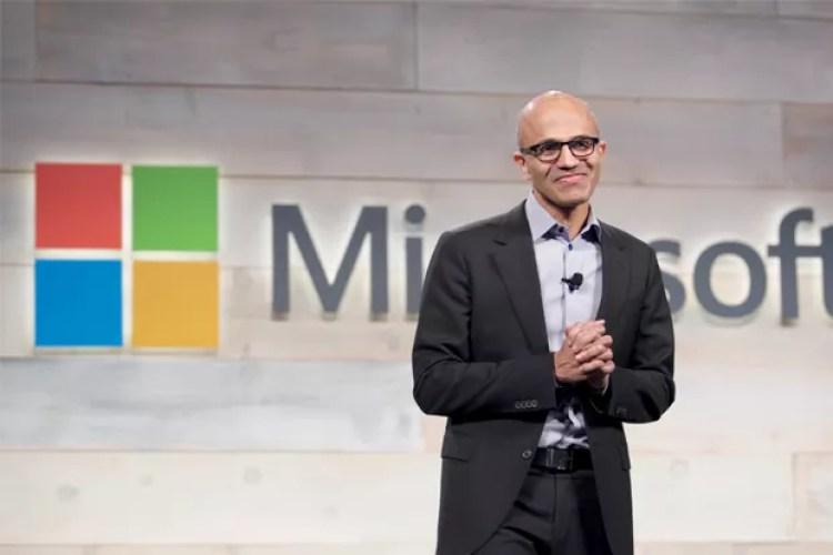 NICHOS- Satya Nadella, presidente mundial da Microsoft: uma startup adquirida por mês neste ano (Foto: Getty Images)