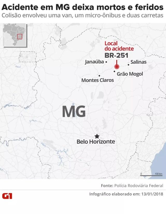 Paraibanos estão entre as vítimas do acidente na BR-251, em Minas Gerais