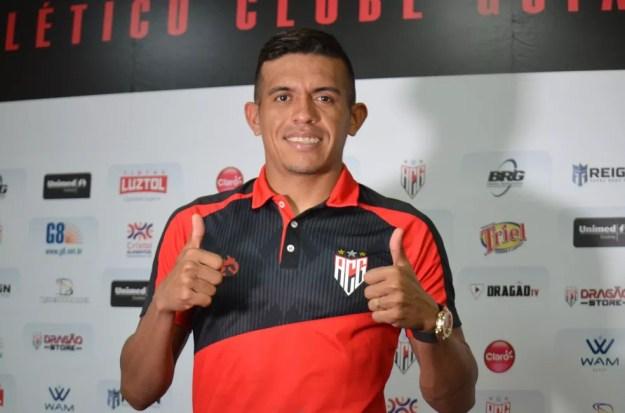 Igor Cariús está no Atlético-GO — Foto: Paulo Marcos/ACG