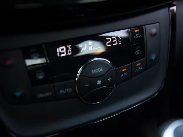Sentra é o único que possui ar-condicionado de duas zonas (Foto: Marcelo Brandt / G1)