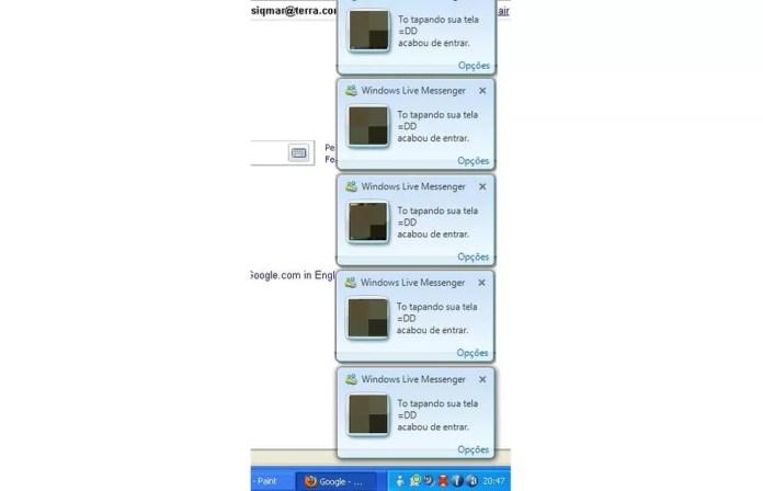 Os usuários eram notificados quando seus contatos entravam ou saiam da plataforma — Foto: Divulgação/MSN