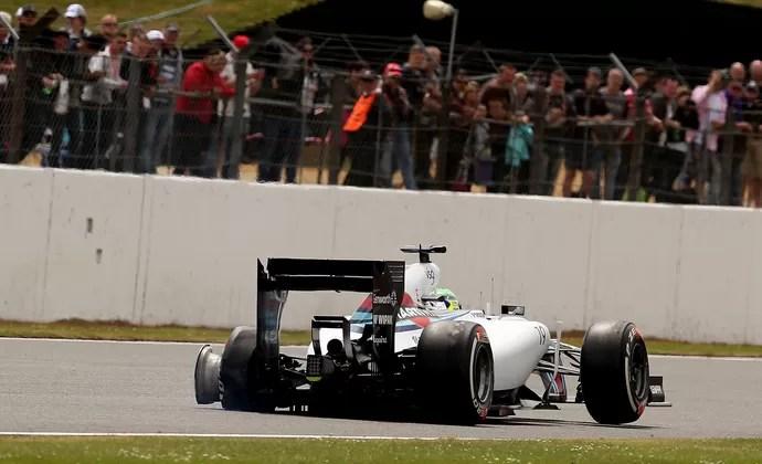 Felipe Massa Williams gp da Inglaterra (Foto: Agência AFP)
