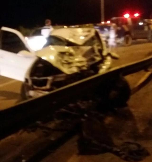 Carro se envolveu em acidente na capital (Foto: Divulgação)
